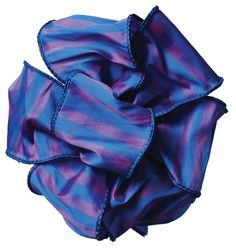 """#40 - 2.5"""" WIRED """"CLUBHOUSE"""" RIBBON, 10 YARDS - BLUE/PURPLE"""