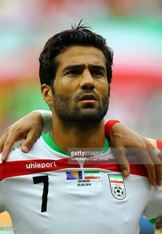 Masoud Shojaei of iran looks on during the 2014 FIFA World Cup Brazil Group F match between Bosnia and Herzegovina and Iran at Arena Fonte Nova on June 25, 2014 in Salvador, Brazil.