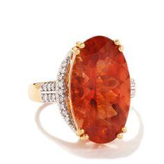 Lehrite & Diamond 18k Gold Lorique Ring MTGW 8.81cts