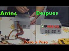 Xlaciencia: Convertir fuente ATX en una fuente de alimentación de laboratorio part 1/2 - YouTube