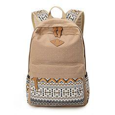 606ec6284162 3 pcs set Women Backpack Canvas Printing School Bags Girls Backpacks Cute  Rucksack Schoolbag Lady Bookbags