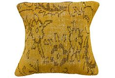 nuLOOM Vintage Handknotted Pillow, Yellow