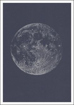 Silver full moon by SABRINA KAÏCI Size 21 x 29,7 cm (A4)Screen print with silvered inkNumbered and hand signed by the artistLimited Edition of 200