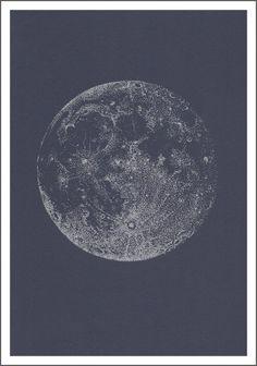 Pleine lune argentée