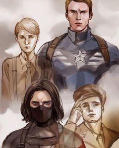 Captain America (MCU) - Steve Rogers x Bucky Barnes - Stucky Marvel Anime, Marvel Dc Comics, Marvel Heroes, Bucky Barnes, Loki, Break My Heart, Super Anime, Captain America And Bucky, Die Rächer