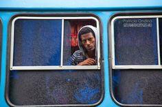 Bus traveller in Ethiopia