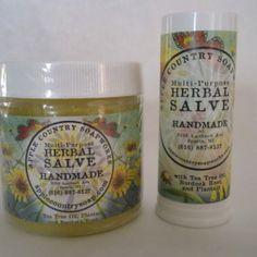 salve jar and tube