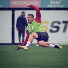 Float like a butterfly, finish like Poldi! Lukas Podolski, Float Like A Butterfly, Football Soccer, Athlete, It Is Finished, Shit Happens, Running, Ali, Instagram Posts