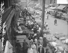 1917. Chicago. Maxwell Street. Maxwell Street Market. Chicago Daily News.