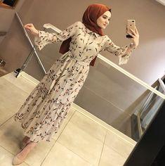 Image may contain: 1 person, standing and indoor Hijab Fashion Summer, Modern Hijab Fashion, Abaya Fashion, Modest Fashion, Fashion Dresses, Hijab Evening Dress, Hijab Dress Party, Hijab Style Dress, Hijab Casual
