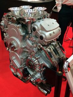 Ilmor V4 MotoGP engine has that high tech exotic look you would expect, but it's just so impressive when you see it