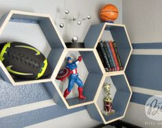 Personalized Honeycomb Shelves - Set of 4 - Custom to your room