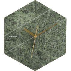 Marble Hexagon klok groen - Karlsson