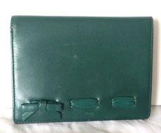 Women's FURLA Green Wallet Bow Detail Leather Zip Around Bifold #Furla #Bifold