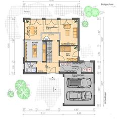 I planned this house design over 175 m² of living space together with a family from near Nuremberg. The family had previously lived in a tenement on the outskirts of town and since they were terminated for their own needs, they have decided to build their Welcome To My House, Surface Habitable, Well Thought Out, Dream House Plans, Home Design Plans, Building A House, Architecture Design, Living Spaces, Floor Plans