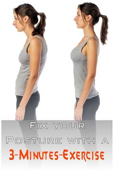 Are you complaining about your bad posture and back pain all the time? Learn the 3-minutes-exercise, improve your posture and have more self-confidence from now on!