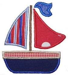Flag Sailboat Applique - 3 Sizes   Beach/Ocean   Machine Embroidery Designs   SWAKembroidery.com Kimberbell Kids