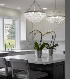 - Overview - Details - Why We Love It - This dazzling crystal chandelier is so beautiful and can really anchor a room with a touch of sparkle. For those looking for crystal lighting that is more moder