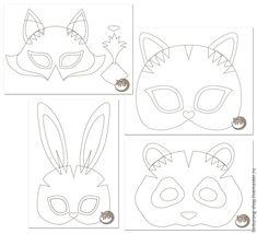 Делаем карнавальные маски зверей из фетра - Ярмарка Мастеров - ручная работа, handmade