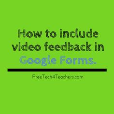 Google Forms is a great platform for creating all kinds of simple quiz and review activities. One of the features of Google Forms that is ...