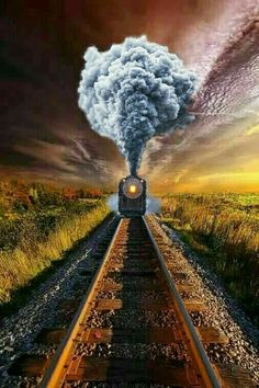 Steam Train at Dawn Studio Background Images, Dslr Background Images, Photo Background Images, Picsart Background, Photo Backgrounds, Train Posters, Train Art, Train Pictures, Old Trains