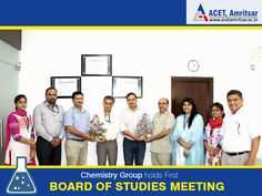 16th July 2015 marked the conduct of the first BOS meeting by the Chemistry Group (Applied Science Department). The BoS meeting was presided over by subject experts Dr. B.S. Kaith, Professor, NIT Jalandhar and Dr. Ajay Bansal, Associate Professor, NIT Jalandhar.