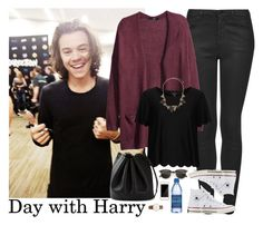 """""""Day with Harry"""" by stellasmathio ❤ liked on Polyvore featuring Topshop, H&M, Converse, Hermès, Squair and Wallis"""