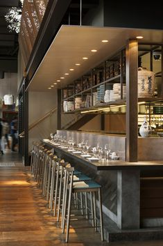 Sake Melbourne Restaurant, The Arts Centre, Melbourne designed by Luchetti Krelle