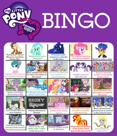 Equestria Girls Bingo