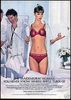 Sexy Woman Doctor Theme Maidenform Lingerie (1982)