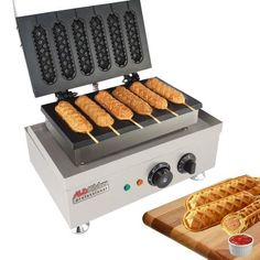 Corn Dogs, Master Chef, Commercial Waffle Maker, Making Hot Dogs, Waffle Sticks, Waffle Machine, Food Truck Business, Business Ideas, Waffle Maker Recipes