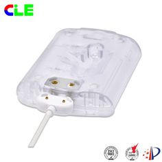 2 Pin magnetic charger cable connector for miner's lamp,it similar to apple cable 0D3.0,2C,TPE material ,but it have unique engineered so that the product enough to provide  storage space and charger fast.the magnetic cable length can be customized,you can according to the need .