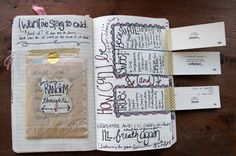 I started one of these dedicated to the man when we first got together. I had SO much fun with it. I think, starting after our anniversary this year, im going to do one smash book page a day for a year, and give that to him as a gift for our 3 yr anni :) Wreck This Journal, Journal Pages, Moleskine, Art Doodle, Scrapbooking Album, Scrapbook Photos, Smash Book Pages, Scripture Study, Scripture Journal
