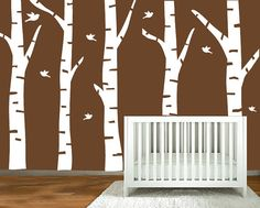 nursery wall decals   birch trees silhouette  by ModernWallDecal, $99.00