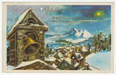 Postcards - Greetings & Congrads # 574 - Happy New Year - Church Bells