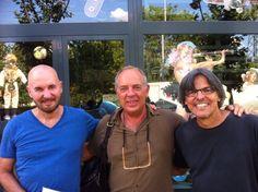 Visita del gran artista Tomás Sánchez a nuestra tienda. en la foto: Tomás Sanchez, Pepe Criado y Francisco Bernal
