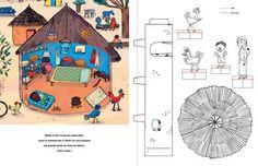 """Pour ceux qui souhaitent travailler sur les maisons du monde en volume: un livre intitulé """"colorie et fabrique tes maisons du monde"""" est l'outil idéal pour vous!!"""