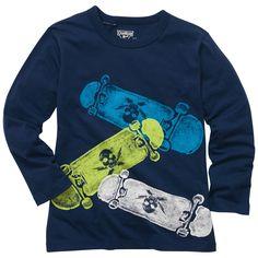 Long sleeve skateboard graphic tee. #LookoftheWeek #oshkoshbgosh