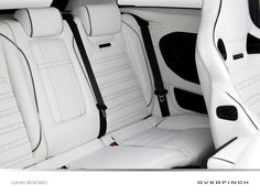 Lotus white leather seating to the rear.