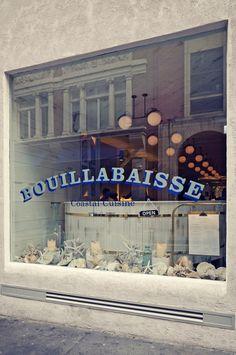 Facade. Bouillabaisse, Mayfair. Seafood Restaurant