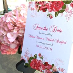 Rose Save the Dates