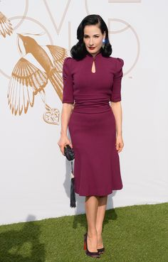 """Dita von Teese. Modest Fashion doesn't mean frumpy! Fashion Tips (and a free eBook) here: http://eepurl.com/4jcGX Do your clothing choices, manners, and poise portray the image you want to send? """"Dress how you wish to be dealt with!"""" (E. Jean) http://www.colleenhammond.com/"""