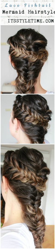 Lace Fishtail Braid Mermaid Hairstyle on yourself