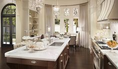 Elegant kitchen via The Enchanted Home: Clive Christian