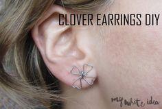 CLOVER EARRINGS DIY   MY WHITE IDEA DIY
