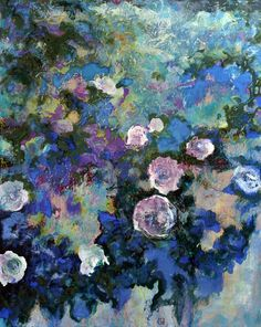 Late Afternoon in Rose Garden [Impressionism-A2609] - $500.00 painting by oilpaintingsartmaker.com