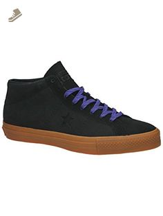 Converse Unisex One Star Pro Leather Mid Black/Gum/Candy Grape Skate Shoe  9.5