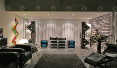 B&W Matrix 800 with McIntosh and Mark Levinson electronics.