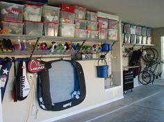 Garage storage ideas are quite challenging. When you intend to design the garage storage, it seems not too difficult. Garage Wall Organizer, Garage Organization, Garage Storage, Organization Ideas, Organized Garage, Tool Storage, Garage Shelving, Bike Storage, Storage Boxes