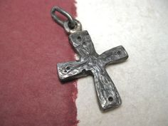Croce  forged solid iron cross abstract design by daganigioielli, $128.00